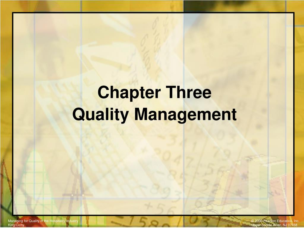 chapter three quality management l.