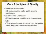 core principles of quality