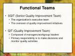 functional teams