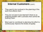 internal customers cont