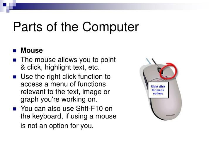 Parts of the computer1