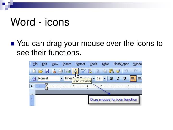 Word - icons
