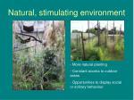 natural stimulating environment