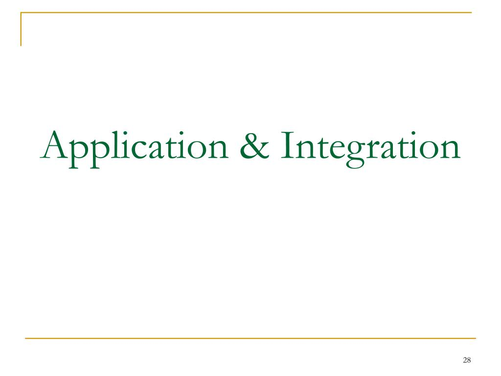 Application & Integration