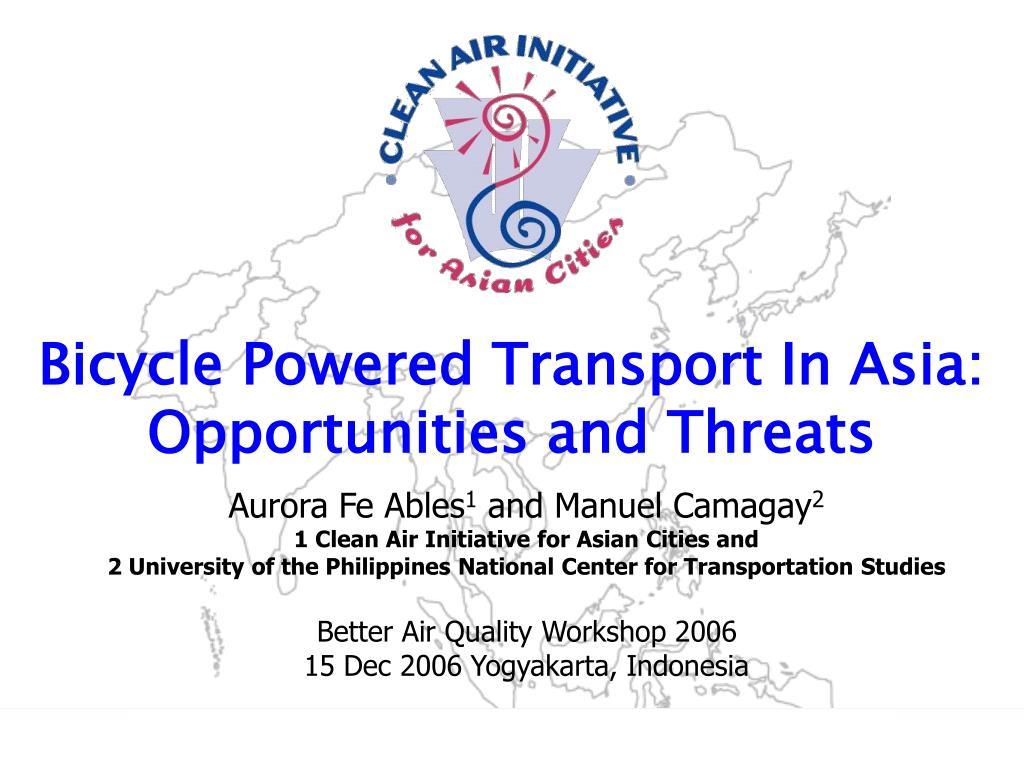 bicycle powered transport in asia opportunities and threats l.