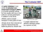 the 3 wheeler nmt