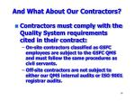 and what about our contractors
