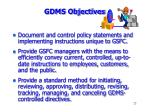 gdms objectives