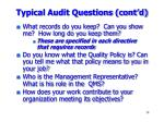 typical audit questions cont d