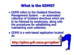 what is the gdms