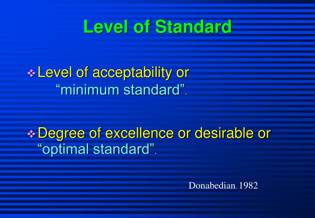 Level of Standard