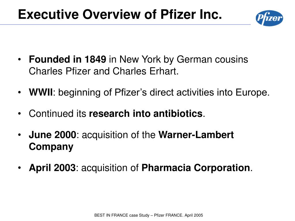 PPT - PFIZER : Entering the French market Interview with