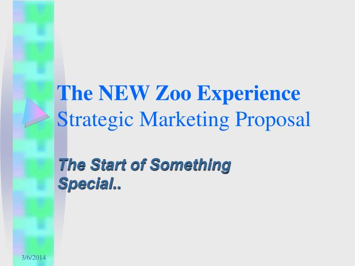 the new zoo experience strategic marketing proposal n.