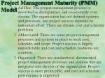 project management maturity pmm model