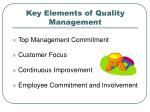 key elements of quality management