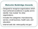 malcolm baldridge awards