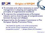 origins of efqm