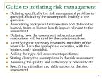 guide to initiating risk management