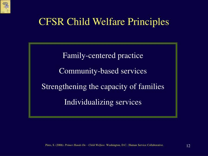 CFSR Child Welfare Principles