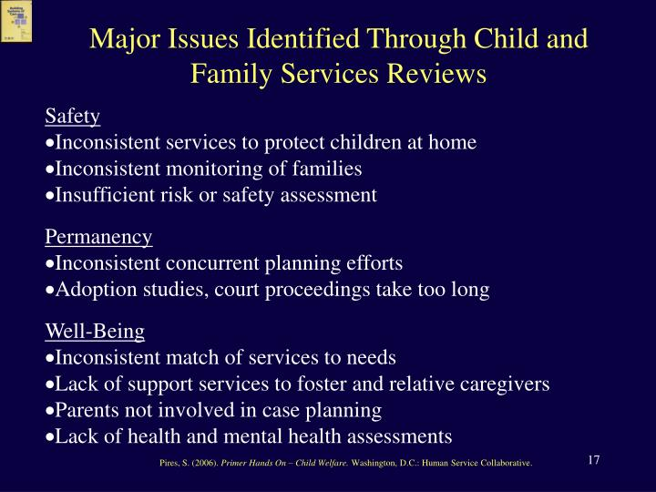Major Issues Identified Through Child and Family Services Reviews