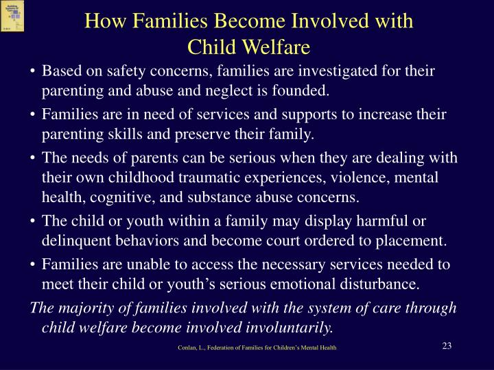 How Families Become Involved with Child Welfare