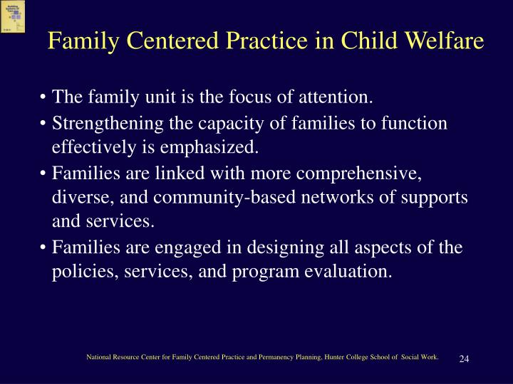 Family Centered Practice in Child Welfare