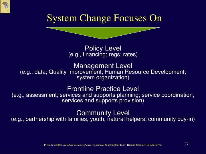 System Change Focuses On