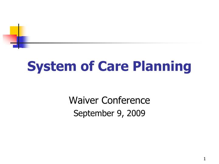 system of care planning n.