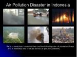 air pollution disaster in indonesia