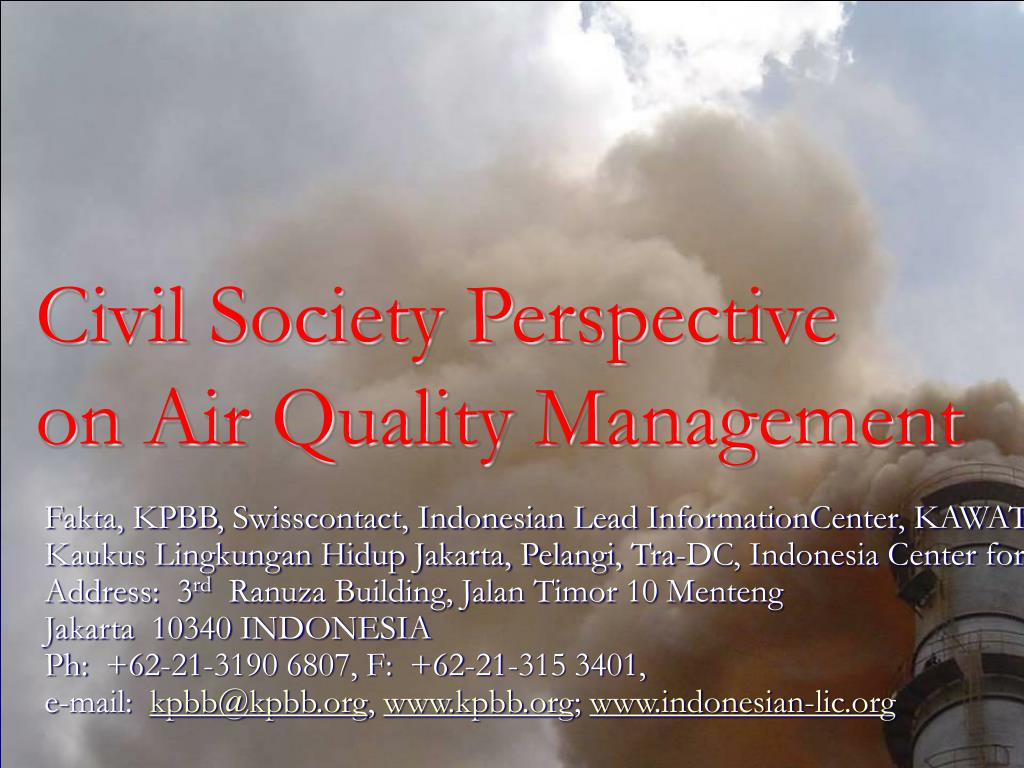 civil society perspective on air quality management l.
