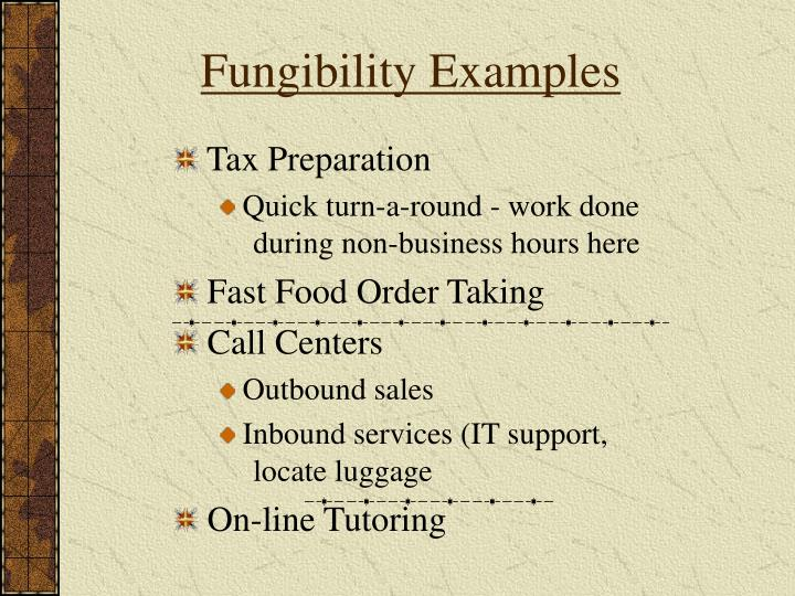 Fungibility Examples