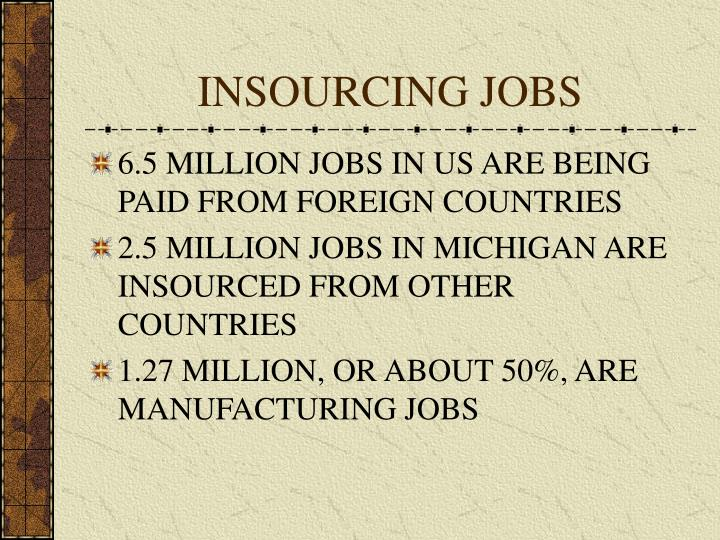 INSOURCING JOBS