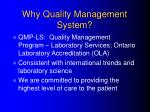 why quality management system