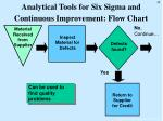 analytical tools for six sigma and continuous improvement flow chart