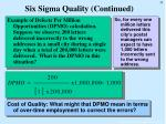 six sigma quality continued33