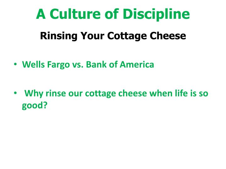 Ppt Good To Great Chapter 6 A Culture Of Discipline