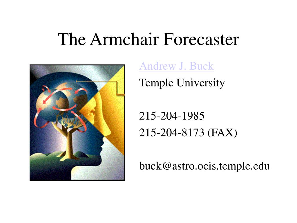 the armchair forecaster l.