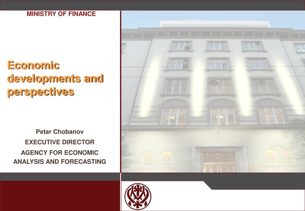 economic developments and perspectives l.