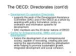 the oecd directorates cont d