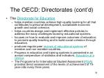 the oecd directorates cont d35