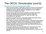 the oecd directorates cont d38