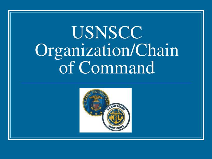 Usnscc organization chain of command