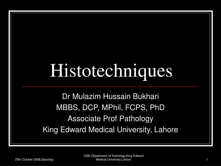 histotechniques n.
