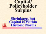 capital policyholder surplus shrinkage but capital is within historic norms