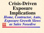 crisis driven exposure implications home contractor auto exposure growth slows as sales nosedive