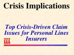 crisis implications top crisis driven claim issues for personal lines insurers