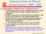 important issues threats facing insurers 2009 201529