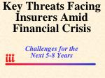 key threats facing insurers amid financial crisis challenges for the next 5 8 years