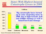 states with highest insured catastrophe losses in 2008
