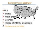 economic census geography